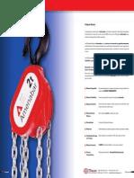 Polipasto Manual de Cadena - Componentes