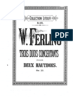Ferling - 3 Duo Concertants for 2 Oboes Op. 13