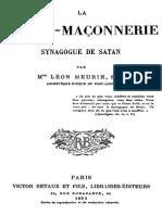 Meurin.1893.La.franc.maconnerie.synagogue.de.Satan