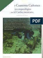 El Pecio Cuarenta Cañones Joya Arqueológica en El Caribe Mexicano