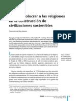 Como Involucrar a Las Religiones en La Construccion de Civilizaciones Sostenibles G Gardner