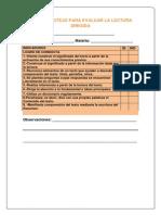 lista de cotejo para evaluar la lectura dirigida