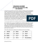 calculus grading scheme