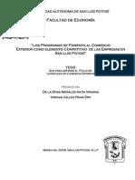Los Programas de Fomento Al CE en Las Empresas de San Luis Potosi ¿Factor Competitivo