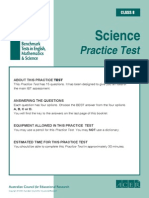 IBT (International Benchmark Test) Sample Paper Grade 8 Science