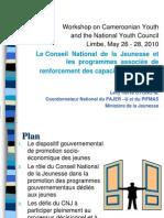 CNJC et programmes gouver de promo des jeunes 1 (2).ppt