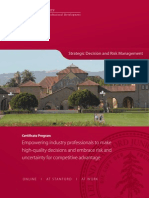 Strategic Decision and Risk Management (SDRM at Stanford) - Brochure