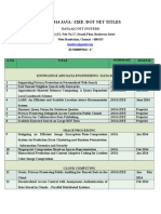 Project Titles IEEE 2014