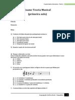 Prova de Música CCB Chapadinha