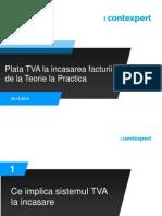 TVA La Incasarea Facturii -Seminar LexNavigator