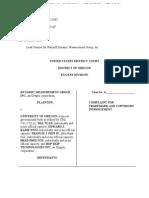 Dynamic Measurement Group Complaint