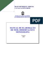NORMAS Manual de Elaboracao de Tese e Monografia