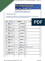 Digitacion Flauta
