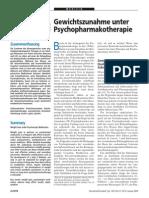 Gewichtszunahme Unter Psychopharmaka