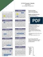 2014 2015 lives program calendar