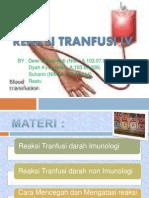 Reaksi Tranfusi Ppt