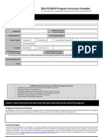 student curriculum template