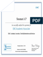 EMC Academic Associate, Cloud Infrastructure and Services Certificate