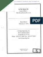 Milan v Evansville D 75 03 Deposition of Bryan Brown