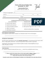 Gala 2014 Sponsorship Form