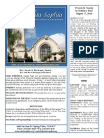 Santa Sophia Bulletin - Aug 17, 2014