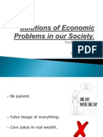 Economic Problems of Our Society
