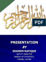 Bureau Statistics Shamim Rafique (1)