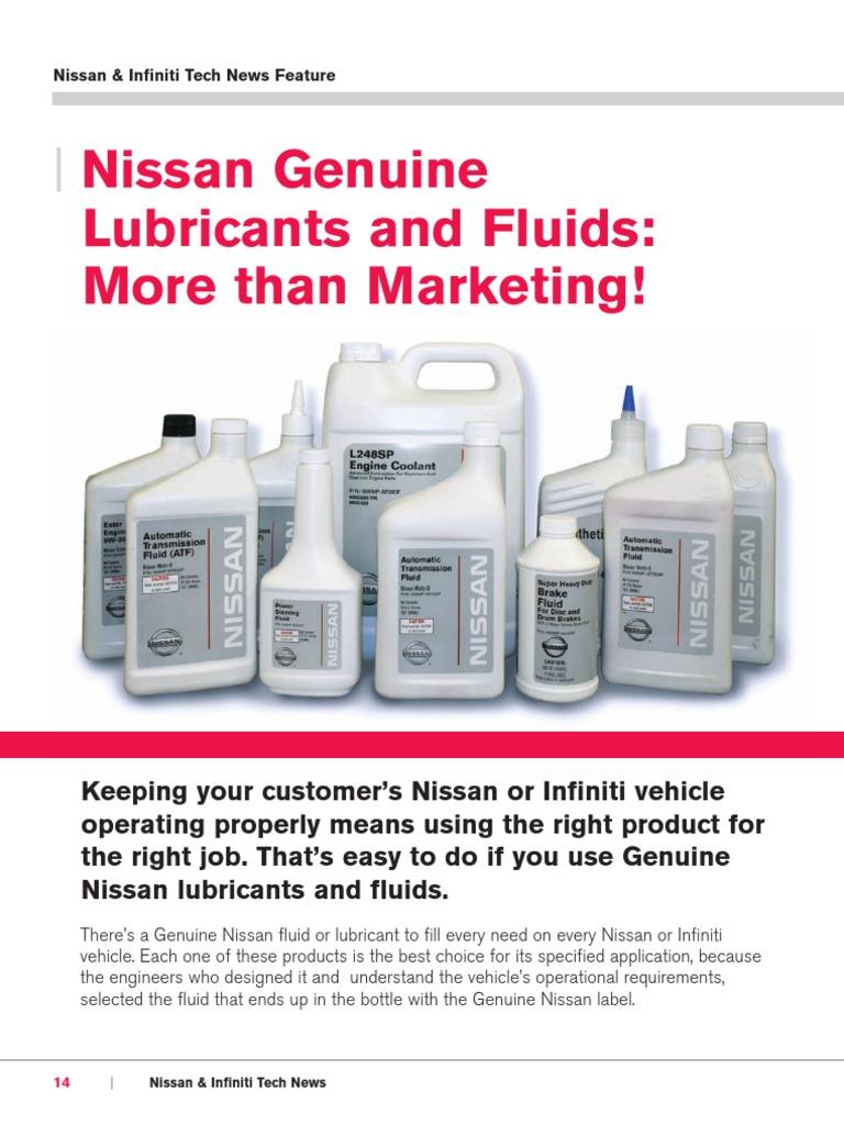 Nissan Genuine Lubricants And Fuids Motor Oil Manual Transmission Engine Coolant