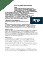 Estrutura e Apresentação Do Projeto e Artigo