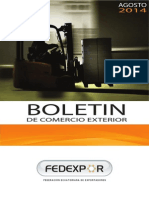 Boletín Informativo de Comercio Exterior FEDEXPOR - Agosto 2014