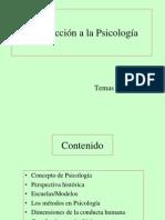 Temas 1 y 2 Introducción a La Psicología
