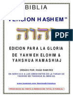 BIBLIA VERSION HASHEM