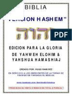 BIBLIA VERSION HASHEM