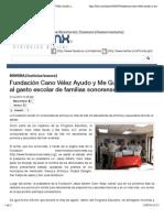 07-07-14 Fundación Cano Vélez Ayudo y Me Gusta, en apoyo al gasto escolar de familias sonorenses