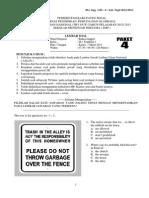Soal Try Out Bahasa Inggris Paket 4