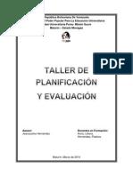 Concepto de Planificación y de Evaluación Pastora Taller
