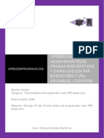 CU00805B Diferencia Ventaja Inconveniente Pagina Web Estatica Dinamica PHP