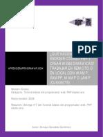 CU00807B Que Necesito Escribir PHP Crear Web Dinamicas Trabajar Remoto Local