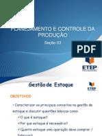 Planejamento e Controle Da Produção - Seção 03
