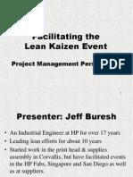 Lean Kaizen Event - Project Management Perspective