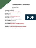 Cronograma de Ética y Legislación Profesional