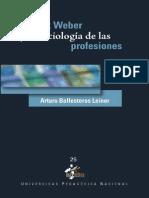 Max Weber y La Sociologa de Las Profesiones