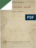 Marias, Julian - La Estructura Social