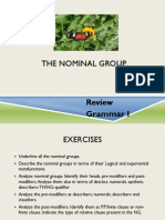 Class April 26- Review the NOMINAL GROUP