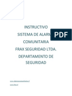 Instructivo Alarmas Comunitarias Frax Seguridad Ltda.