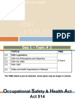 Chapter 2 Osh Legislation