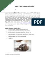 Cara Membuat Puding Coklat Nikmat Dan Mudah