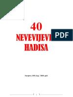 40 Nevevijevih Hadisa