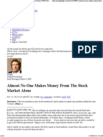 Almost No One Makes Money From the Stock Market Alone - Seeking Alpha