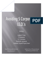 Avoiding S Corporation I.E.D.'s - Presentation Slides
